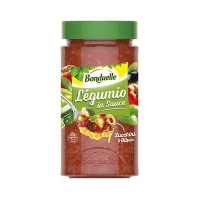 Picture of LEGUMIO SAUCE WITH ZUCCHINI AND OLIVES 460g BONDUELLE