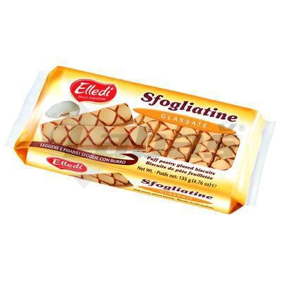 Picture of BAKERY TEA SFOGLIATINE WITH SUGAR Icing 135g HAAS