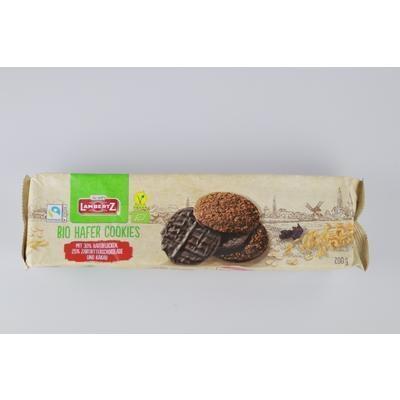 Picture of ORGANIC WHOLEWHEAT BISCUITS WITH DARK CHOCOLATE 200g LAMBERTZ HAFERCOOKIES ZB