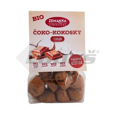 Picture of ORGANIC CHOCOLATE BISCUITS WITH FAIR TRADE CHOCOLATE 100g ZEMANKA