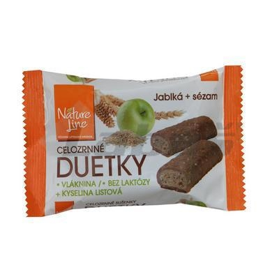 Picture of DUETKY BOWLS APPLES-WHOLEWHEAT SESAME 50g NATURE LINE
