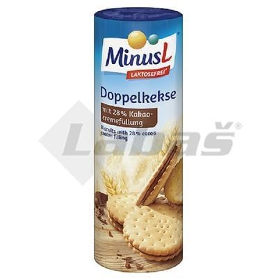 Picture of DUO BISCUITS WITH COCOA FILLING 300g MINUS-L