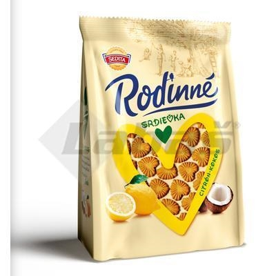 Picture of BISCUITS HEART LEMON-COCONUT FAMILY 170g SEDITA