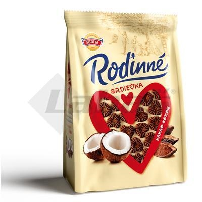 Picture of BISCUITS HEART COCOA-COCONUT FAMILY 170g SEDITA