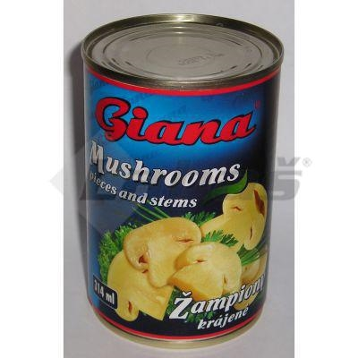 Picture of Sliced STERILIZED CHAMPIONS 314ml / PP 156g GIANA