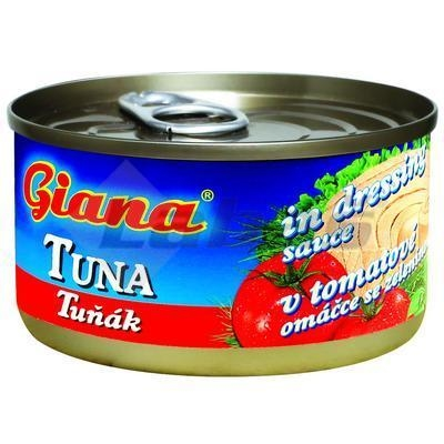 Picture of TUNA IN TOMATO SAUCE WITH VEGETABLES CRUSHED 185g / PP 90g GIANA