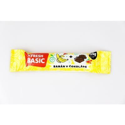 Picture of BANANA STICK IN CHOCOLATE 25g FRESH BASIC