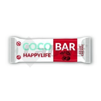 Picture of ORGANIC COCONUT BAR WITH CHERRY 40g HAPPYLIFE COCO BAR GLUTEN-FREE