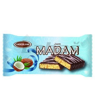 Picture of MADAM BAR WITH COCONUT. FLAVOR IN HOT ICE 100g CHOCOLAND