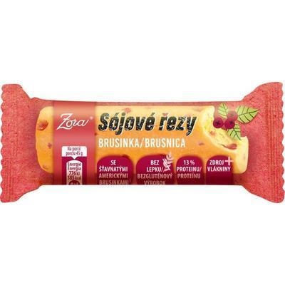 Picture of SOY CUT BAR WITH CRANBERRIES 45g ZORA GLUTEN-FREE