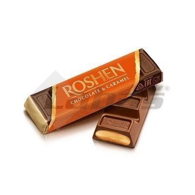 Picture of ROSHEN MILK CHOCOLATE BAR - CARAMEL 40g