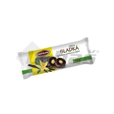 Picture of SOY BAR I AM SWEET CARAMEL AND VANILLA FILLING 50g CHOCOLAND
