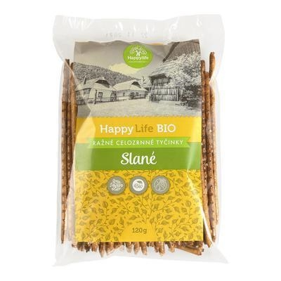 Picture of ORGANIC RAW WHOLEWHEAT SALTY BARS 120g HAPPYLIFE
