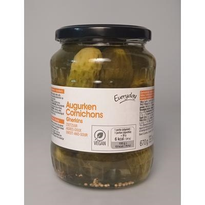 Picture of STERILIZED CUCUMBERS 670g / PP 360g EVERYDAY