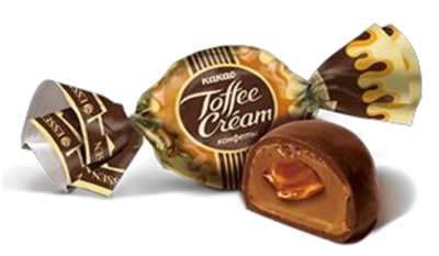 Picture of AVI - Sweets TOFFEE CREAM cacao, 1kg £/kg (box*4)